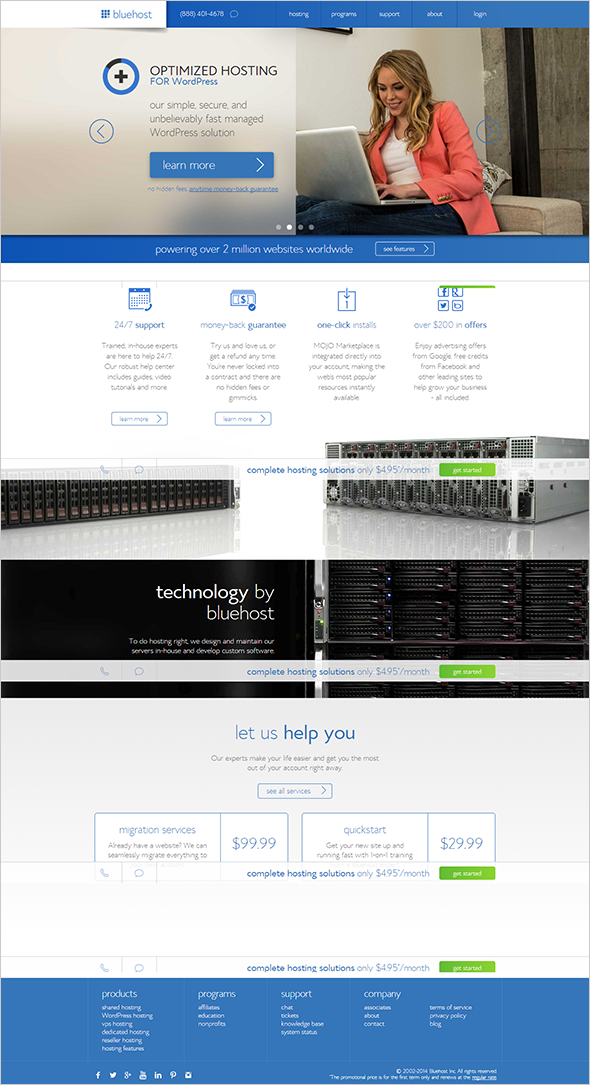 Blue Host Website Design