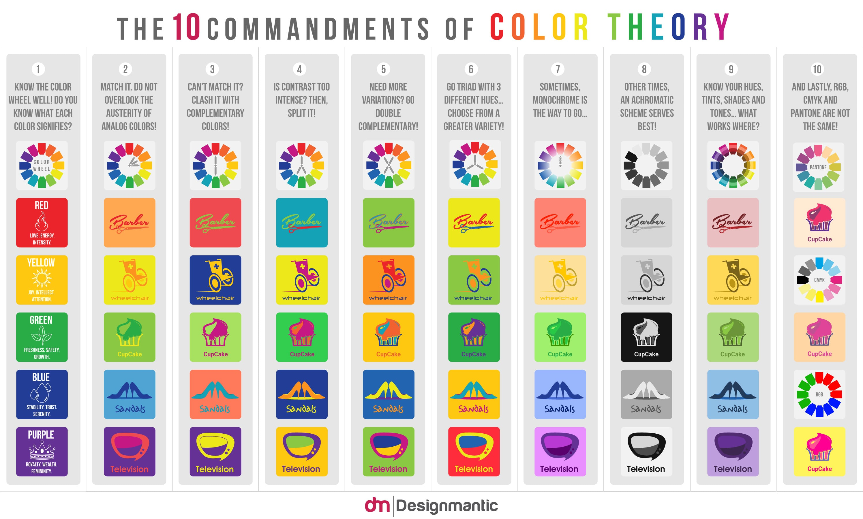 Color Theory Emotions 50 best infographics for web designers - color theory edition