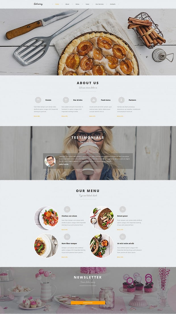 The Next Cooking School Website Template Provides Such Functionality Along With Great Design