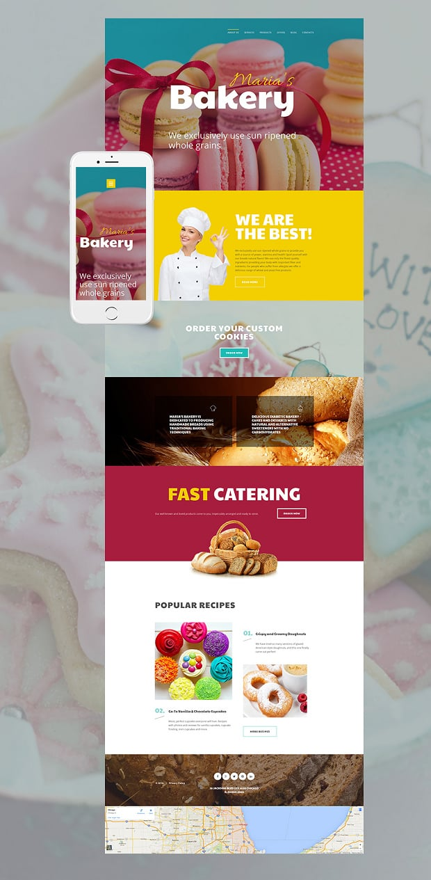 All Moto CMS Templates Allow Adding Videos To Any Page The Website Template Below Features A Fresh Video Recipe Block That Can Be Filled With Various