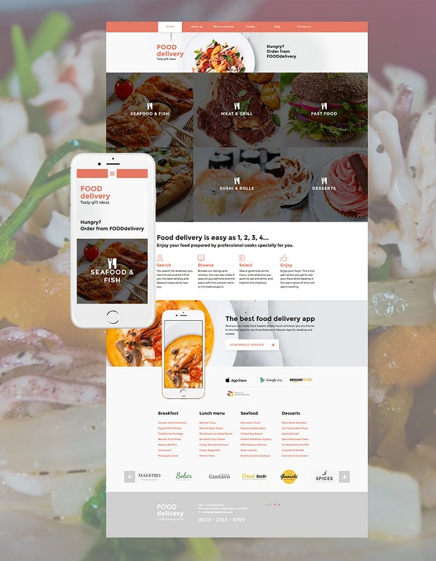 Meal Ordering Website Design