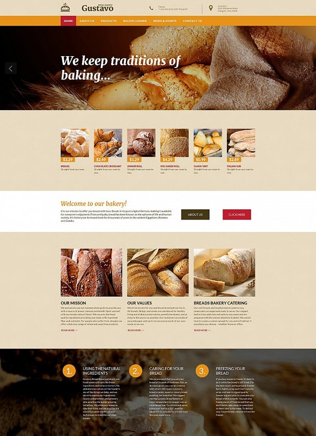 How To Make A Cooking Website Delicious Designs - How to create a website template