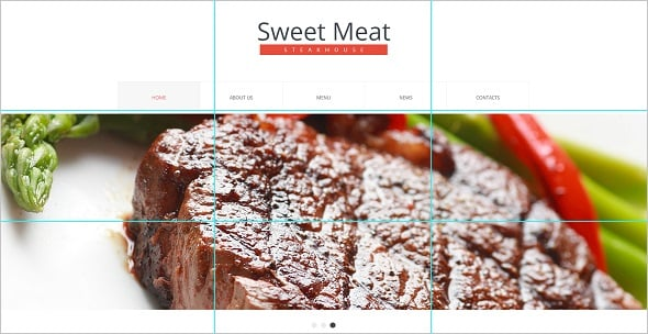 Website Template with the Rule of Thirds Use