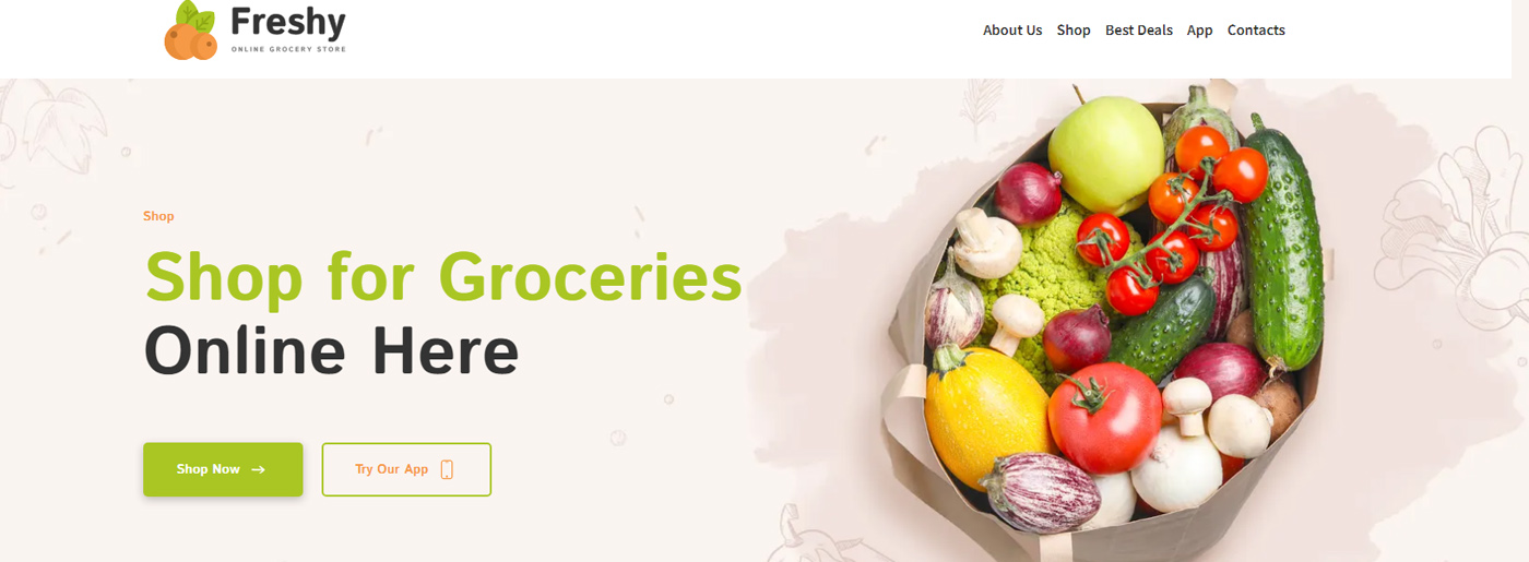 Ecommerce Future -Grocery Shop Website Template