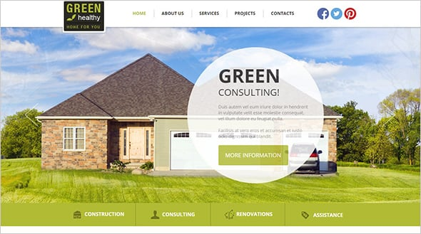 Architecture Website Design with Focal Point