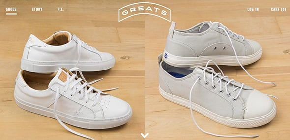 Greats Website Design