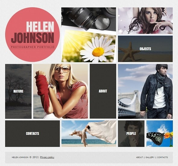 Metro Design Website Template with Large Blocks