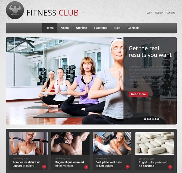 Create a Fitness Website - Grey Website Template for Fitness Club