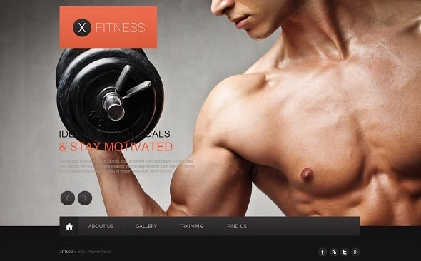 Create a Fitness Website - Fitness Web Template with Background Photo Slider
