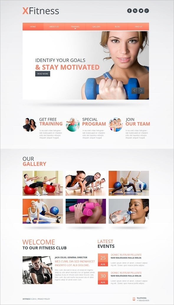 Create a Fitness Website - Fitness Web Template with Gallery