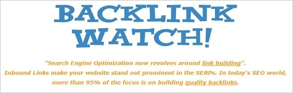 Free SEO Tools - Backlinks Watch