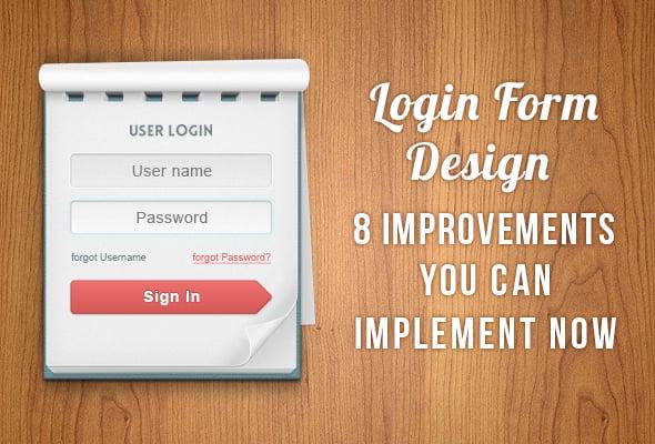 Login Form Design Improvements