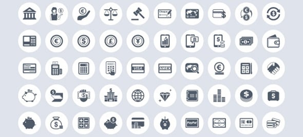 Free Business & Finance Vector Icon Set (EPS)