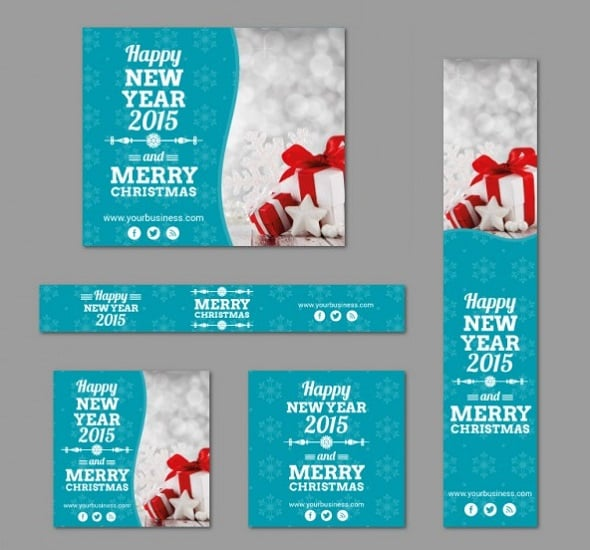 Web Design Freebies - Christmas Banner Templates