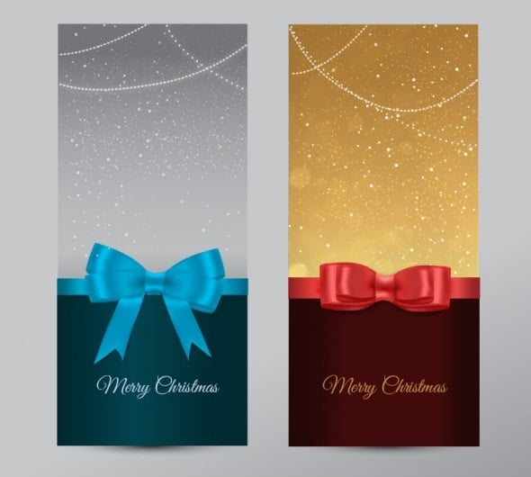 Christmas Banners with Ribbons