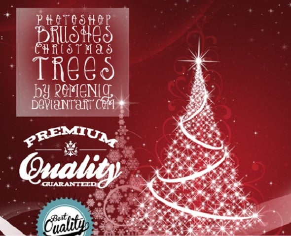 Free Christmas Trees Photoshop Brushes