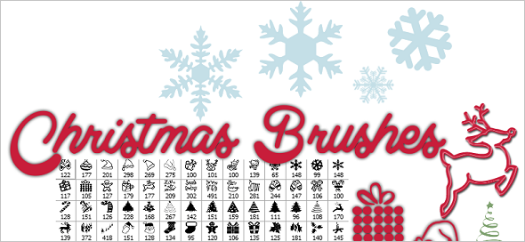 Web Design Freebies - Christmas Brushes Pack