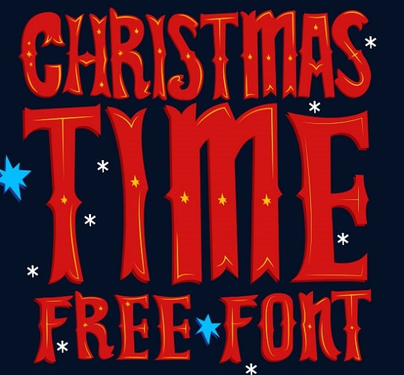 Web Design Freebies - Christmas Time Free Font