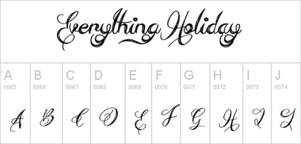 Everything Holiday Font
