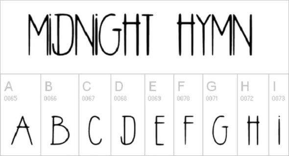 Midnight Hymn Font