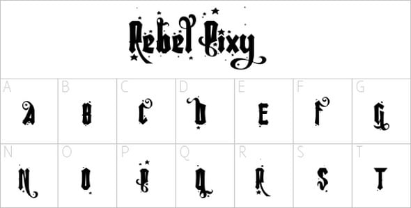 Web Design Freebies - Rebel Pixie Font