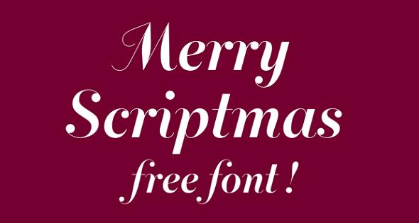 Merry Scriptmas Font