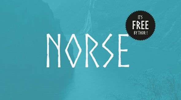 Web Design Freebies - Norse Free Font
