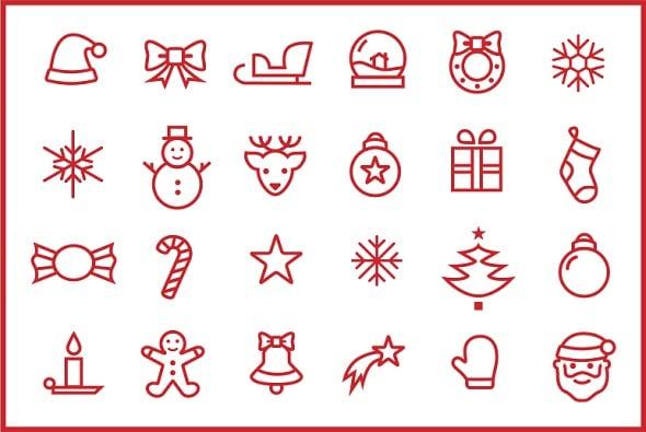 Minimalist Christmas Icons