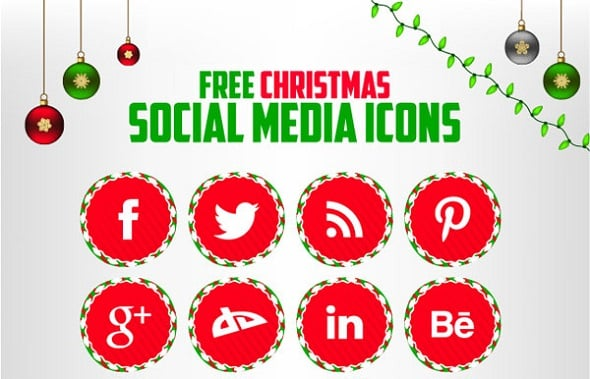 Christmas Icons for Social Media