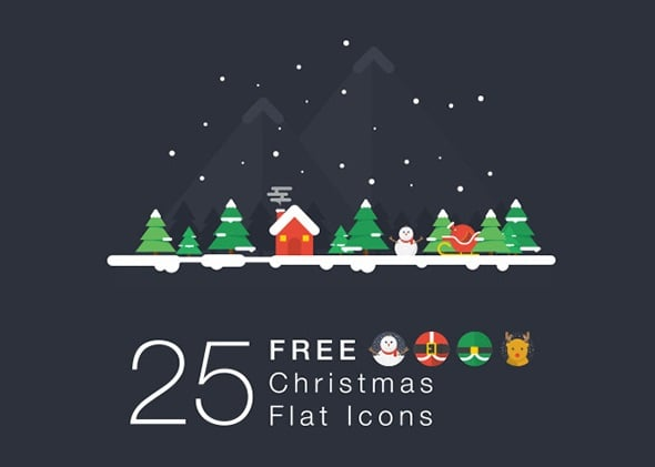25 Free Christmas Icons