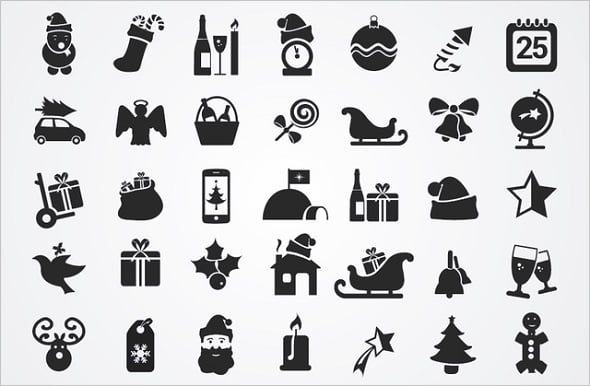 Web Design Freebies - 35 Flat Christmas Icons