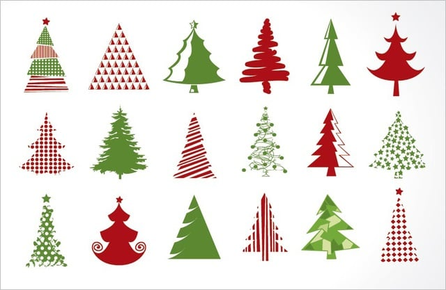 18 Christmas Tree Icons