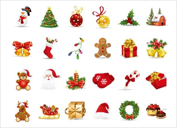 Funky Christmas Icons Pack