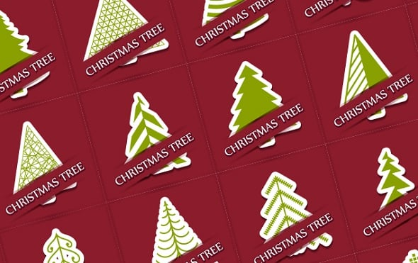 Web Design Freebies - 40 Christmas Tree Vectors