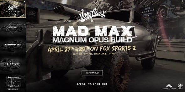Web Design Trends 2015 - Mad Max Game
