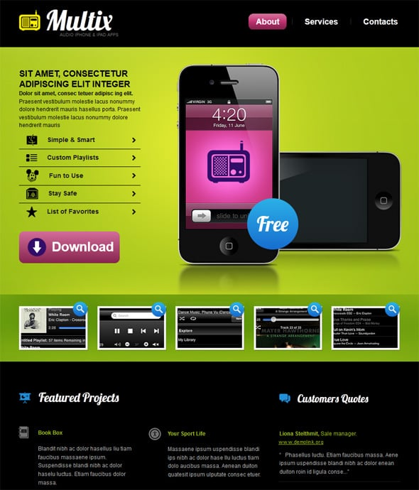 create app website template 3