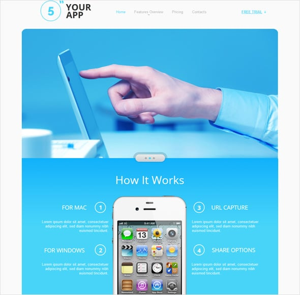 create app website template 2