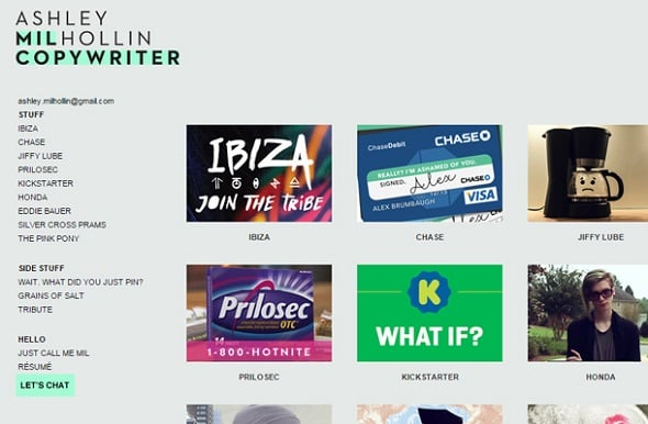 24 Professional Copywriter Portfolio Websites