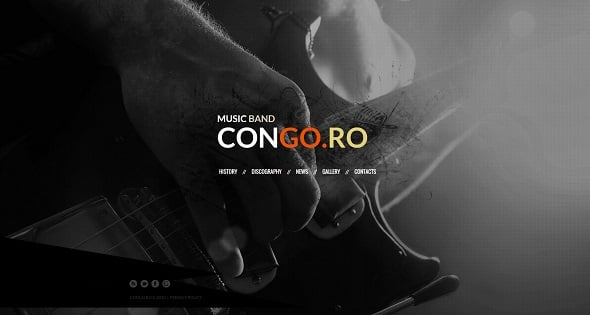Best Website Templates 2014 - Rock Music Band Website Template