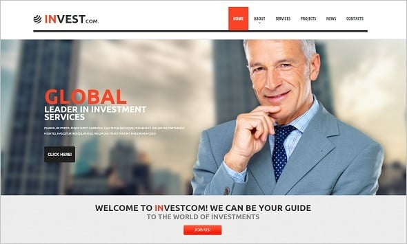 Best Website Templates 2014 - Business Investment Company Template