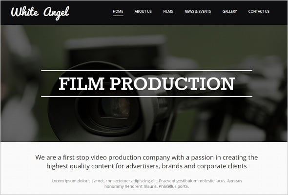 Best Website Templates 2014 - Film Production Company Web Template