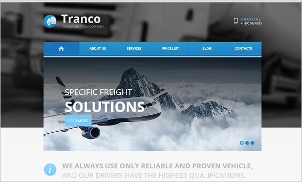 Best Website templates 2014 - Cargo Company Website Template
