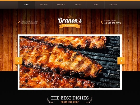 Best Website Templates 2014 - Template for Steak House Website