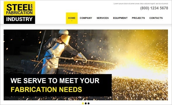 Best Website templates 2014 - Website Template for Steel Industry