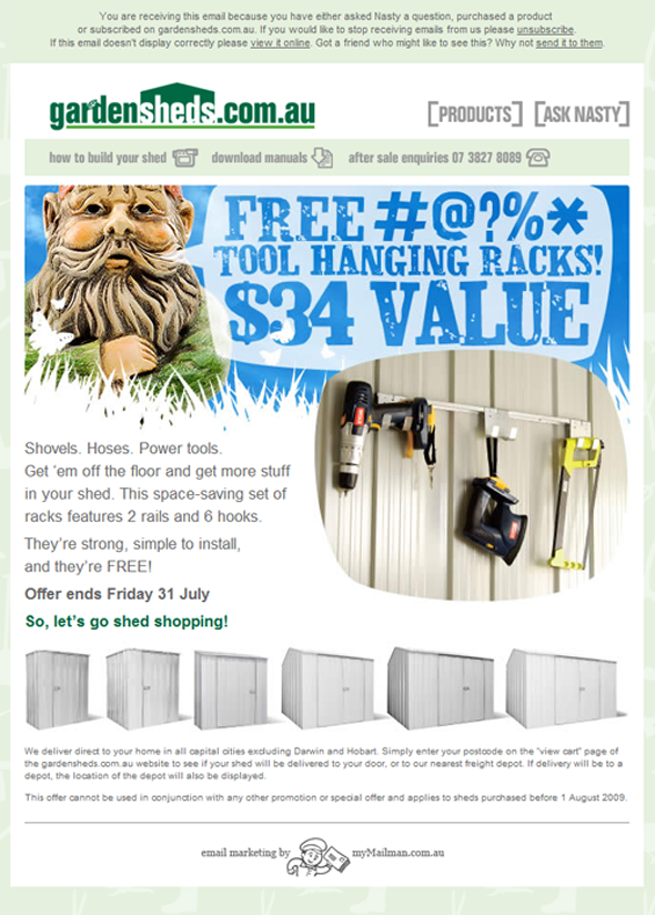 Bonus Tool Hanging Rack