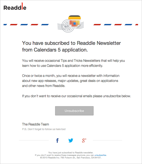 Email Marketing - Readdle
