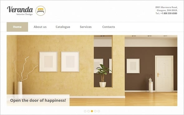 Clean Web Template for Interior Design Company