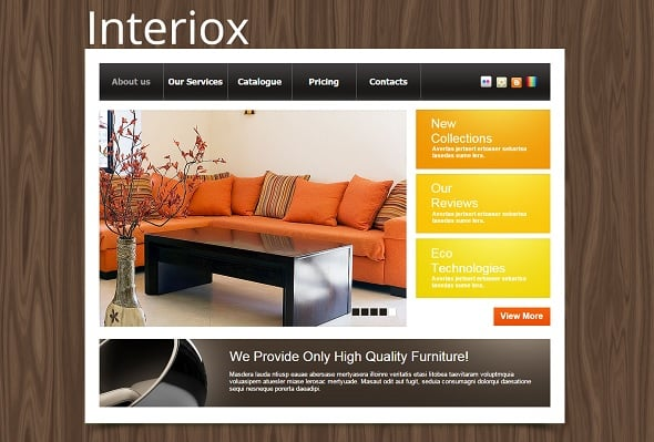 Furniture Company Website Template
