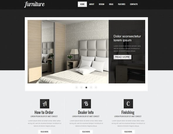 Grey-Toned Interior Design Website Template