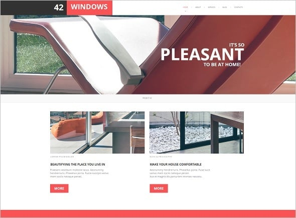Minimalist Website Template for Decor Studio